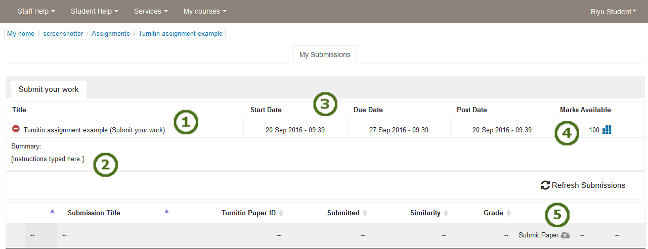 Guidance for students submitting work to Turnitin via ...  Turnitin
