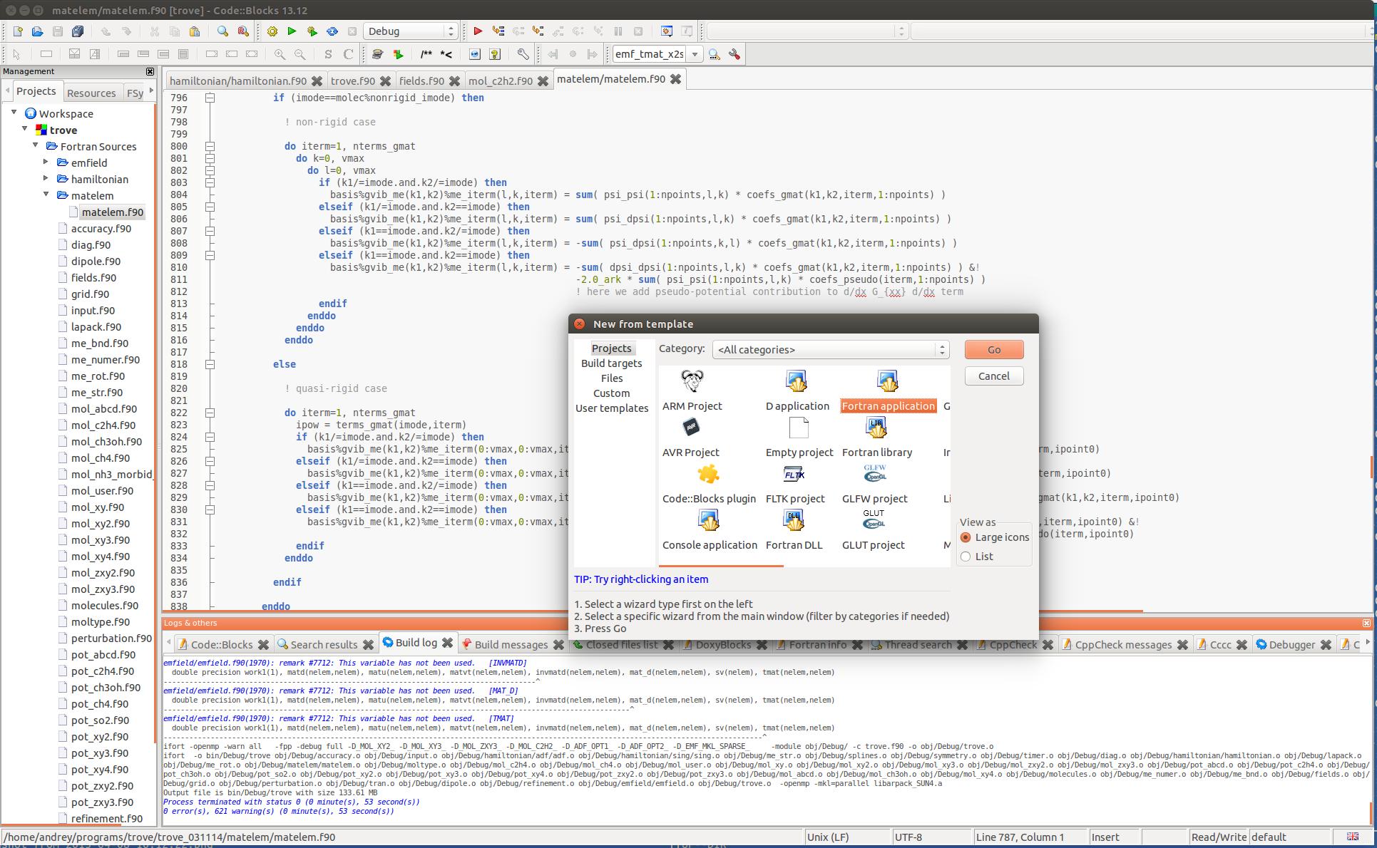 Code::Blocks Fortran - Graduate Programming Courses - UCL Wiki